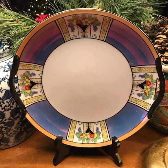 VTG Art Deco Noritake Lusterware Dish